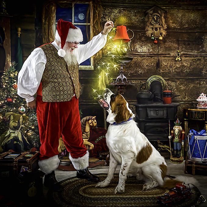 Santa with Pets